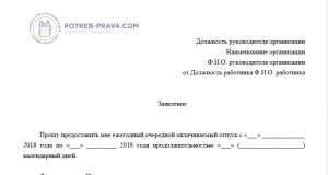 Закон об отпусках с изменениями и дополнениями 2019