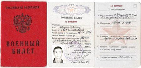 военный билет документ подтверждающий личность
