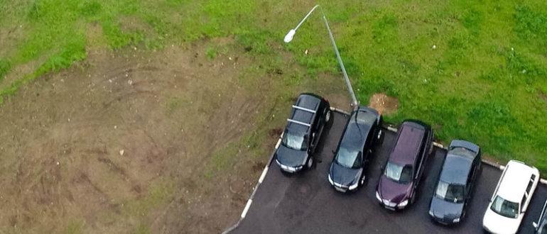 парковка на придомовой территории